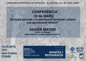 Jornades estratègies de paisatge de la Universitat de les Illes Balears