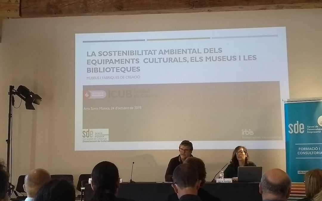 Jornada sobre la sostenibilitat ambiental dels equipaments culturals