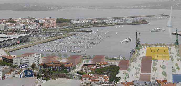 Ciudad Puerto: proyecto finalista en A Coruña