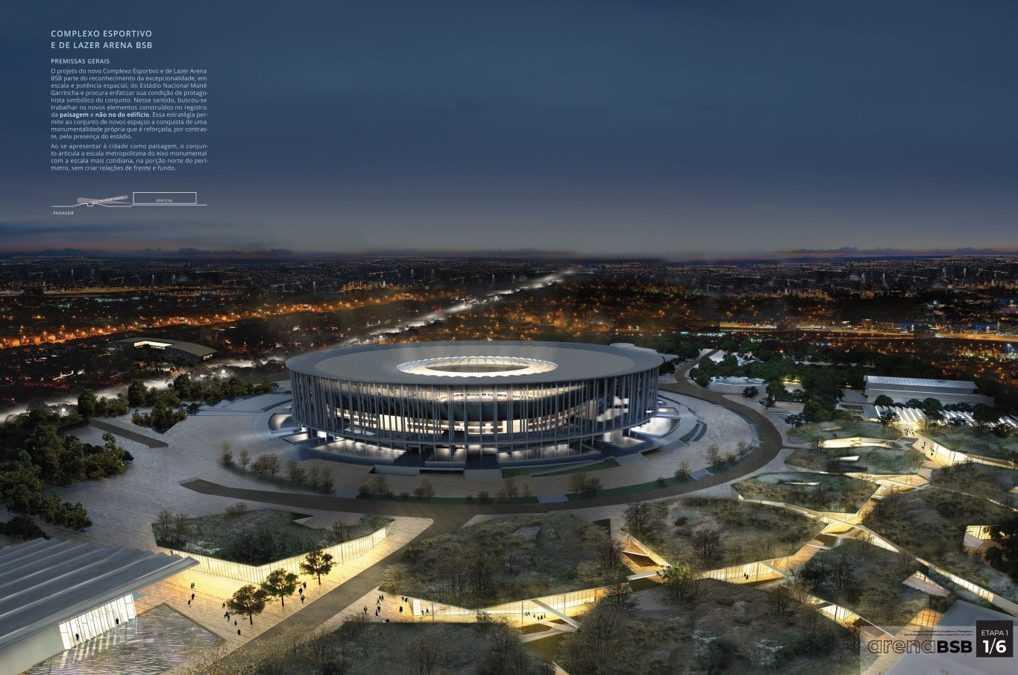 Menció d'honor a la proposta de complex esportiu i d'oci BSB Arena a Brasília (Brasil)