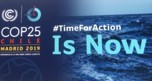 Cartell de la COP25 a Madrid