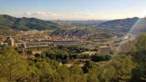 Vista de Barcelona des del Turó de Montcadae Vallbona-