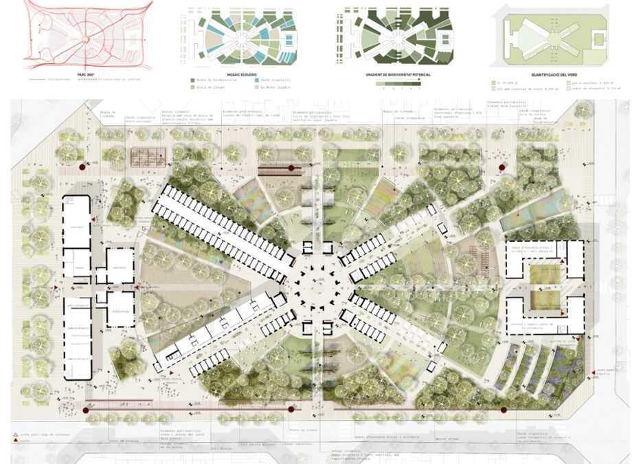 «Vincles», segunda propuesta mejor puntuada en el concurso para el proyecto de ordenación del conjunto de La Model de Barcelona