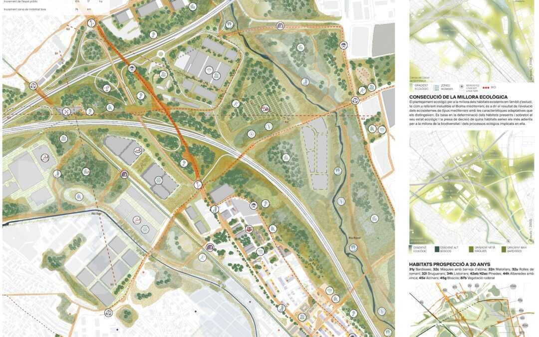 Segunda propuesta mejor valorada en el concurso de ideas «El futuro de las infraestructuras viarias: Nudos y Cruces» del Área Metropolitana de Barcelona