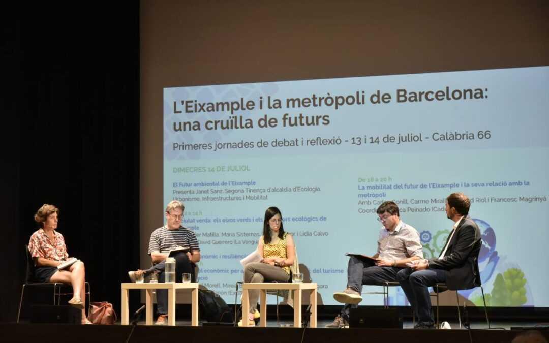 Participamos en las I Jornadas «El Eixample y la metrópoli de Barcelona: un cruce de futuros»
